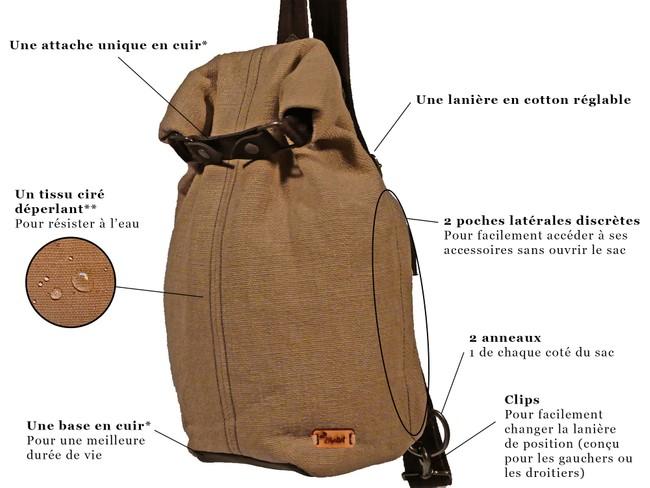 Petit sac à dos bandoulière - balish - Bhallot num 9