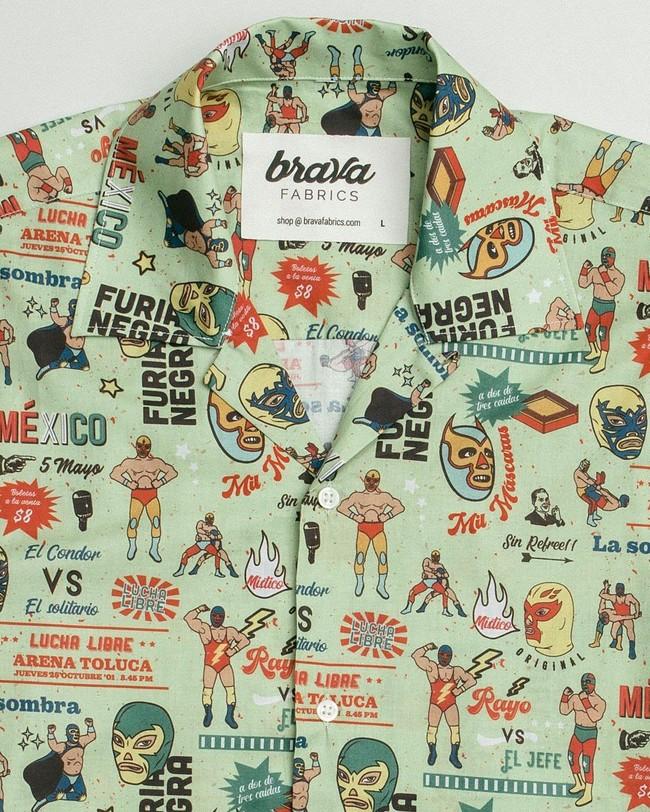 Lucha libre aloha shirt - Brava Fabrics num 2