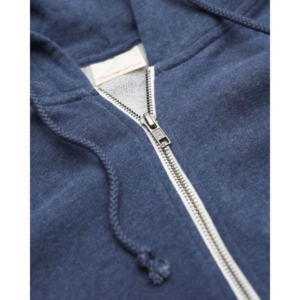 Veste zippée bleue en coton bio - Knowledge Cotton Apparel num 3
