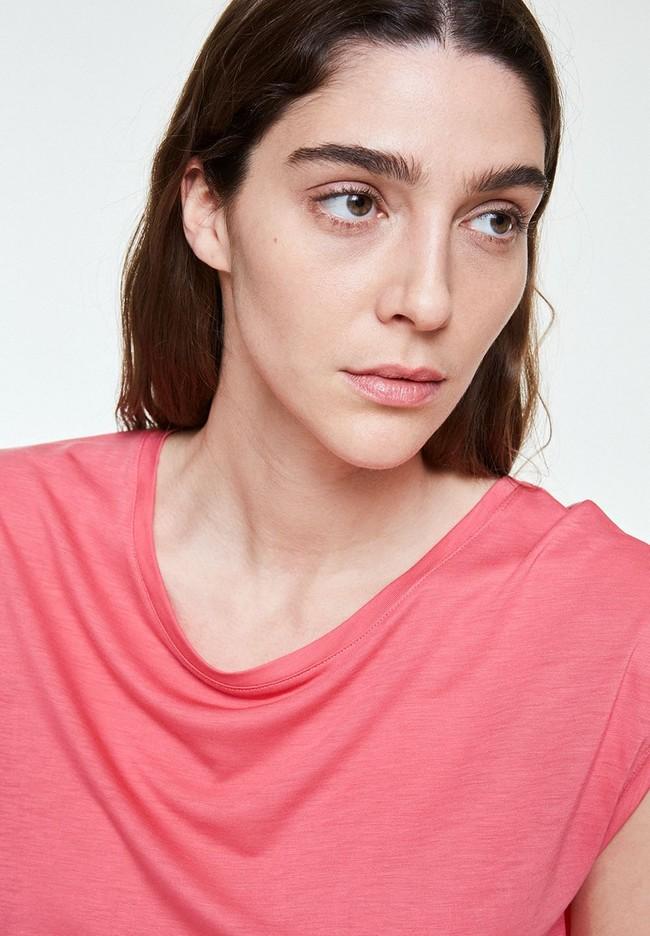 T-shirt uni rose en tencel - jilaa - Armedangels num 2