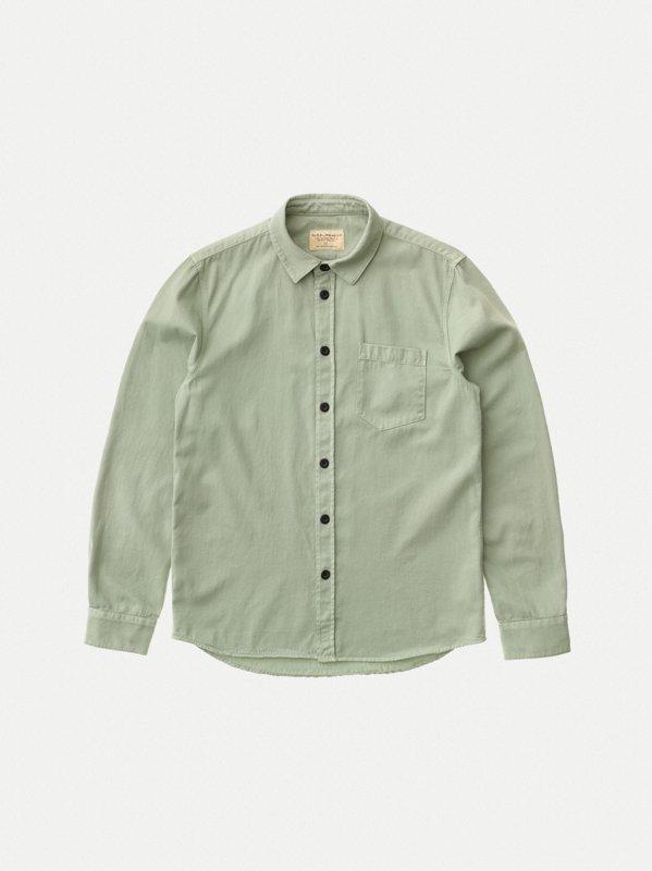 Chemise vert pâle en coton bio - henry - Nudie Jeans num 7
