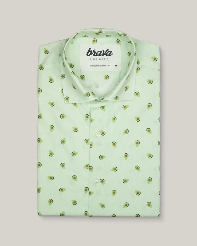 Avocado cocktail printed shirt - Brava Fabrics num 1