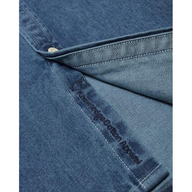 Chemise bleu jean en coton bio - larch - Knowledge Cotton Apparel num 3