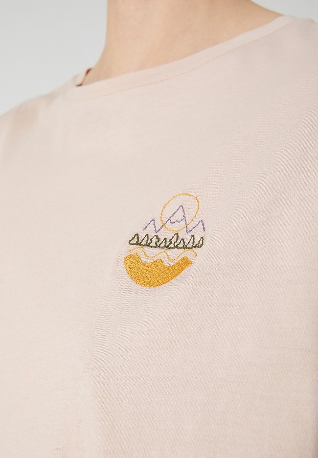 T-shirt rose pâle en coton bio - naalin girl scout - Armedangels num 3