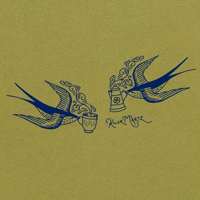 Sweat en coton bio kaki swallow - Bask in the Sun num 2