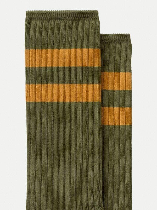 Chaussettes hautes vertes en coton bio - amundsson sport - Nudie Jeans num 2