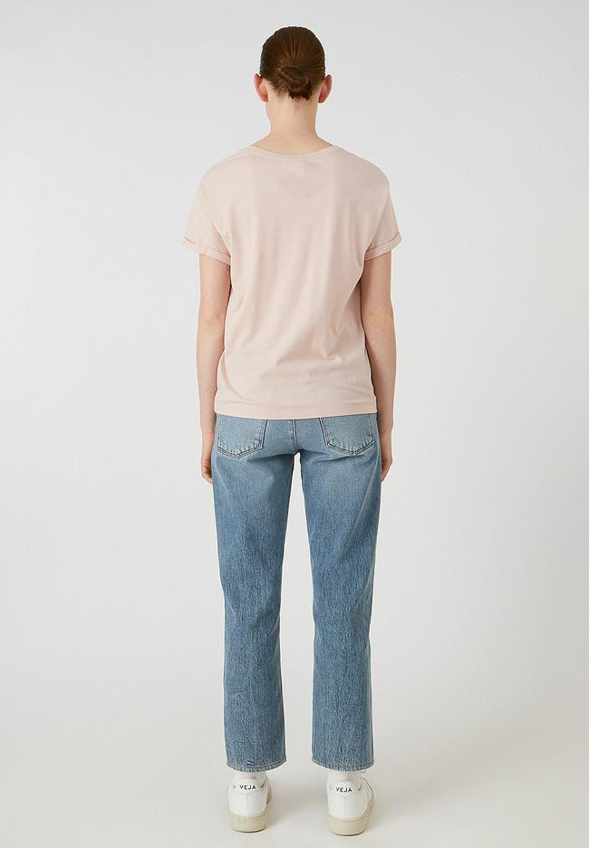 T-shirt rose pâle en coton bio - naalin girl scout - Armedangels num 2