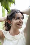 Boucles d'oreilles fleur murraya - argent recyclé - Elle & Sens - 3