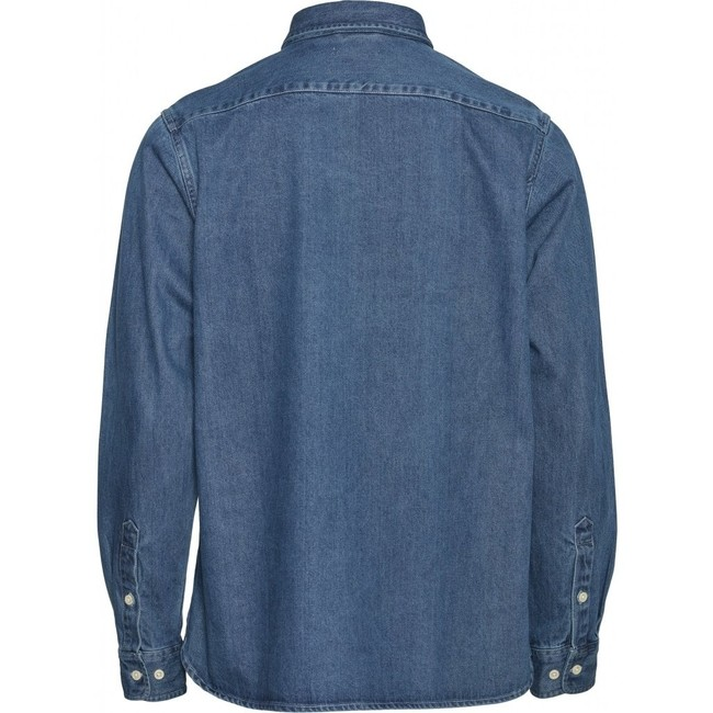 Chemise bleu jean en coton bio - larch - Knowledge Cotton Apparel num 1