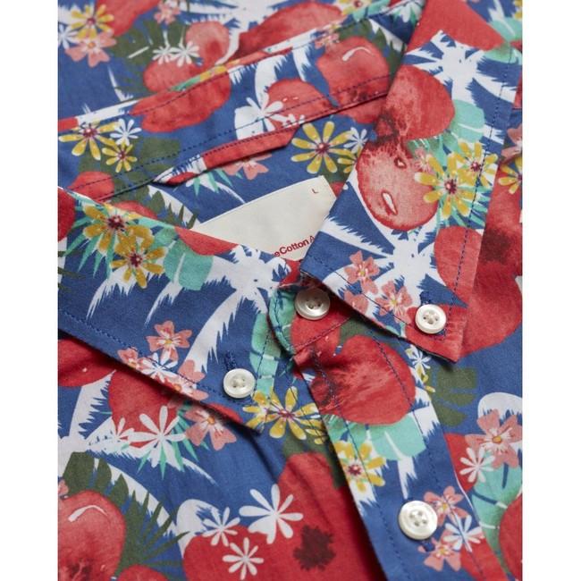 Chemise manches courtes imprimée fleurs en coton bio - Knowledge Cotton Apparel num 2