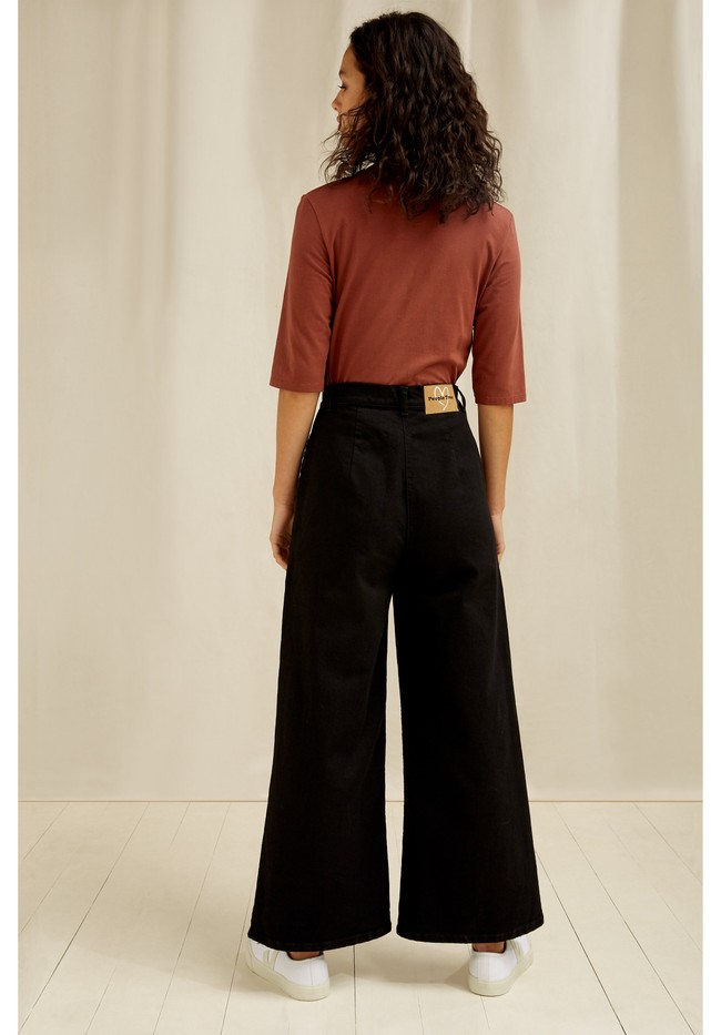 Pantalon ample noir en coton bio - rochelle - People Tree num 2