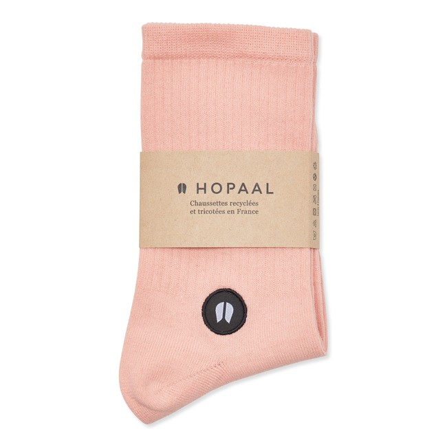 Chaussettes recyclées - field pink - Hopaal