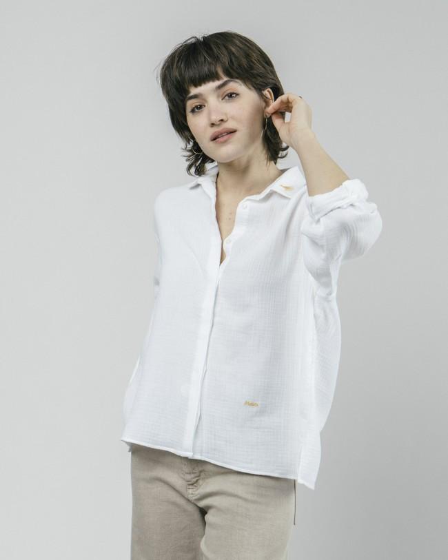 Japanese sky essential blouse - Brava Fabrics