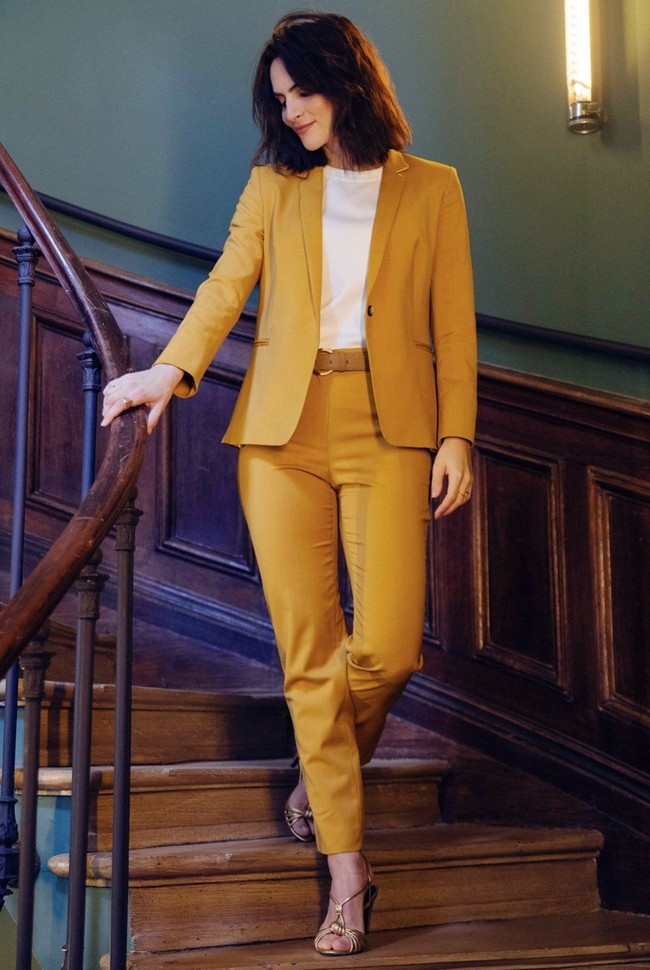 Pantalon tailleur new-york jaune safran - 17h10 num 1