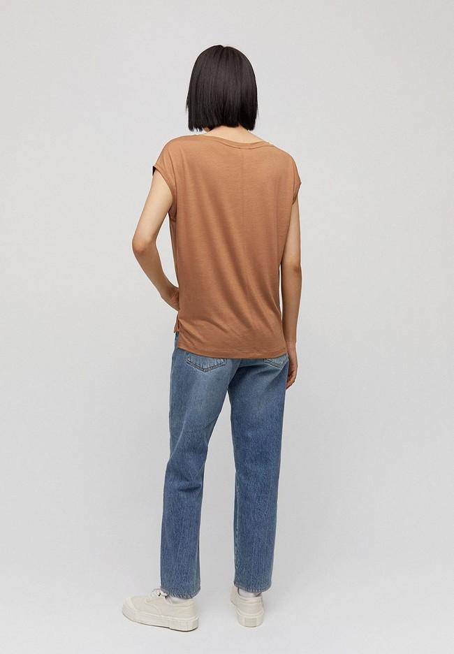 T-shirt camel en tencel - jilaa - Armedangels num 1