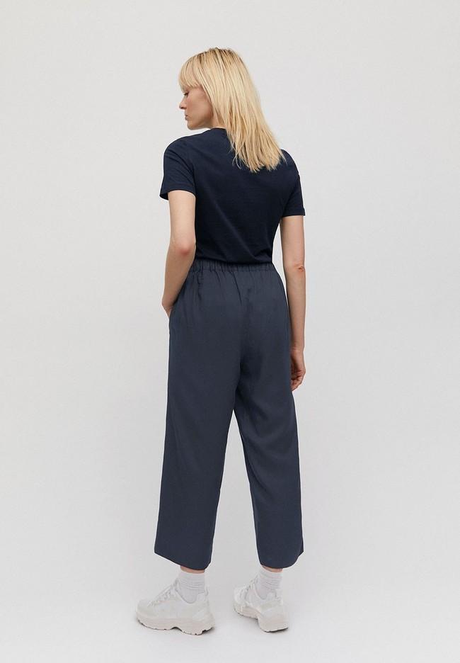 Pantalon ample bleu nuit en tencel - kamalaa - Armedangels num 1