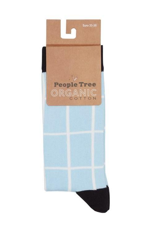 Chaussettes à carreaux en coton bio - People Tree