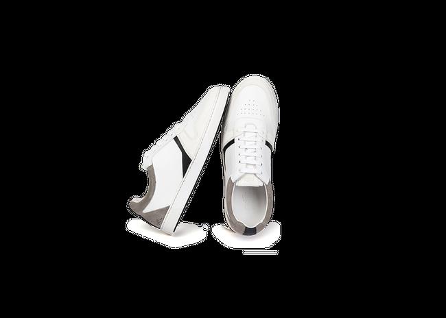 Chaussure en glencoe cuir blanc / suède gris clair - Oth num 1