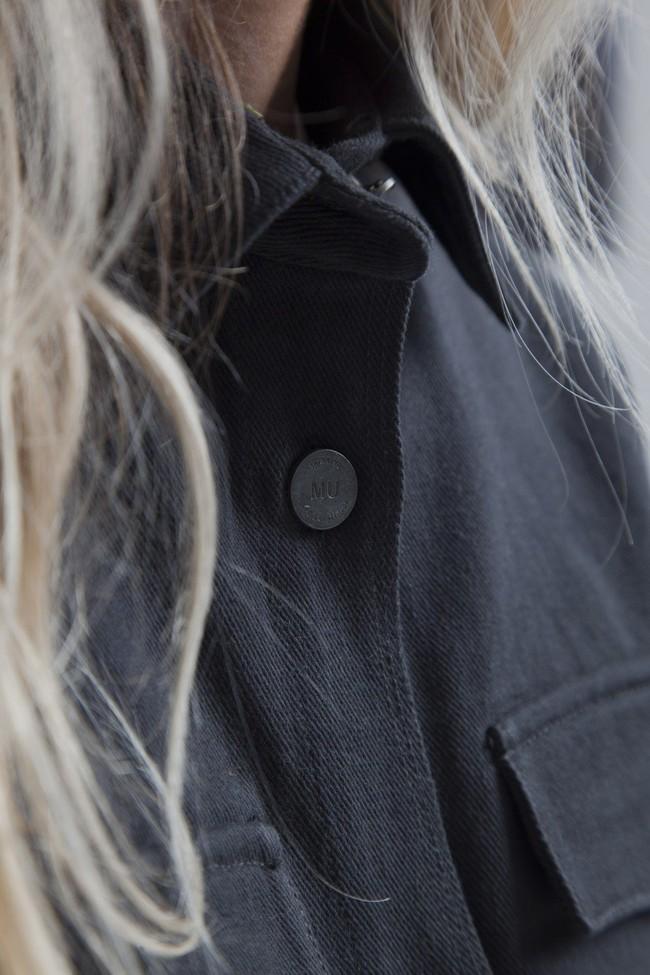 Veste brodée noire en coton bio - gypsy - Thinking Mu num 3