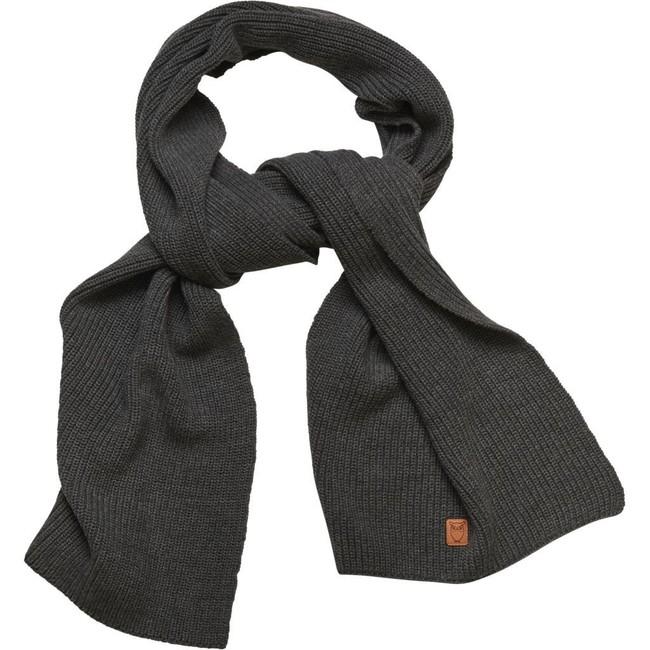 Écharpe grise en coton bio - Knowledge Cotton Apparel