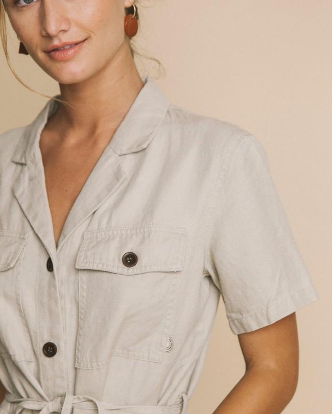 Robe beige en chanvre, tencel et coton bio - karen - Thinking Mu num 3