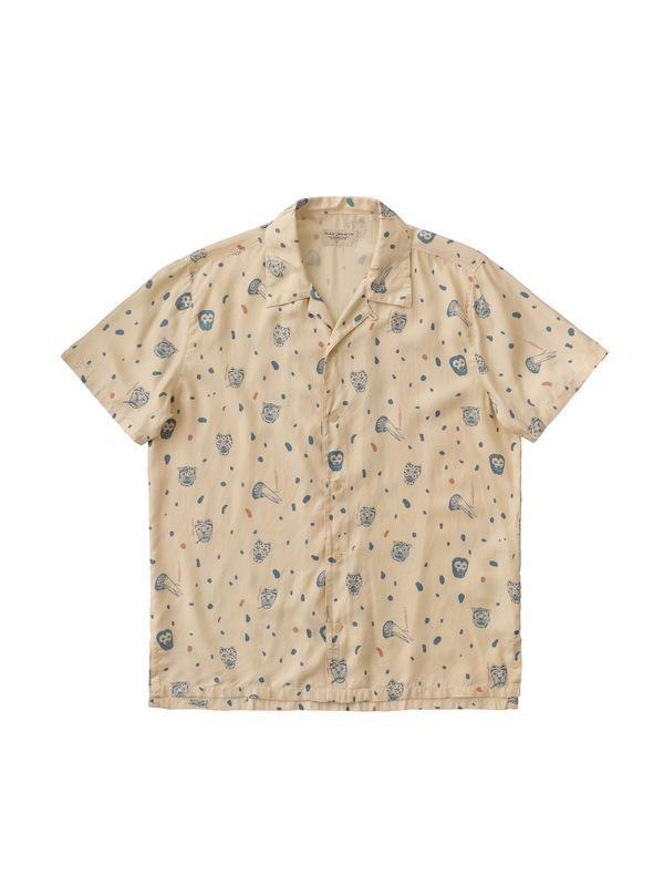 Chemise manches courtes à motifs en coton bio - arvid misfit - Nudie Jeans num 4