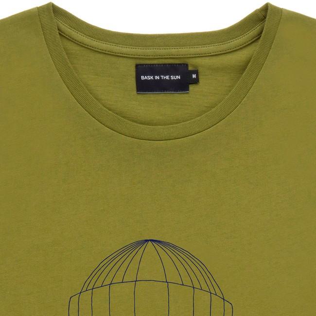 T-shirt en coton bio kaki smoking pipe - Bask in the Sun num 1