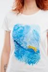 T-shirt motif jaguar - Bleu Tango - 2