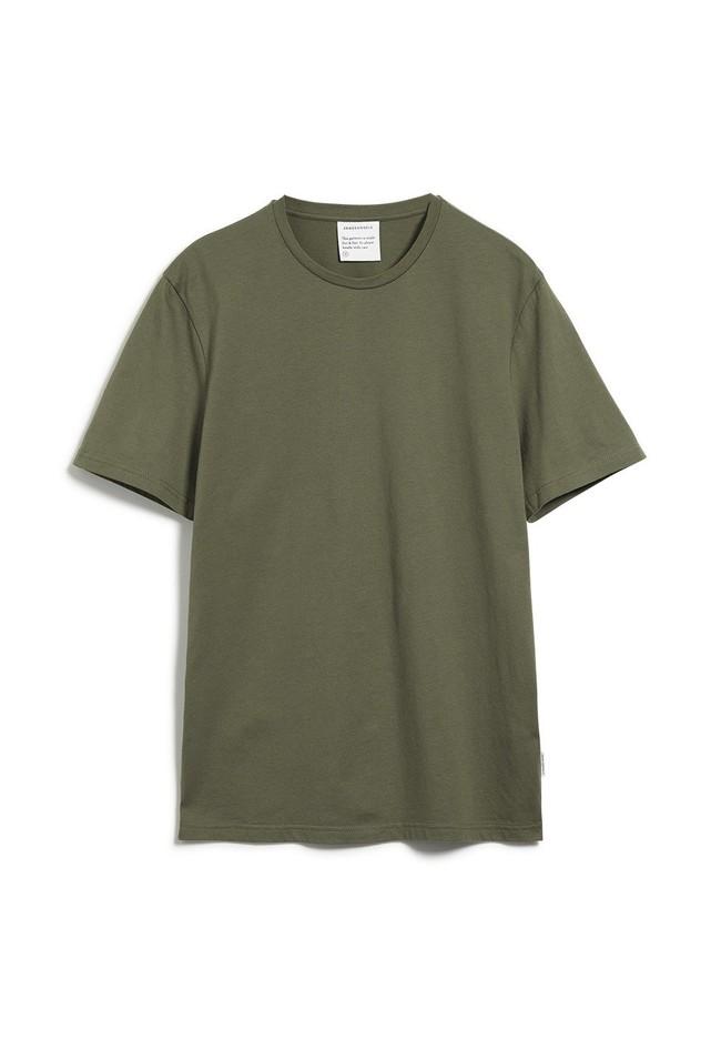 T-shirt kaki en coton bio - jaames - Armedangels num 4