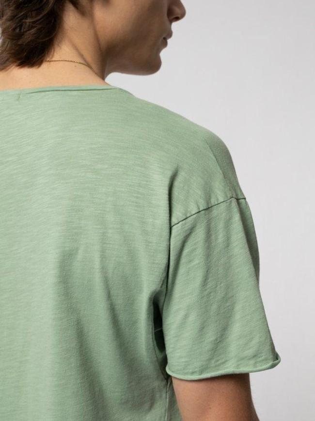 T-shirt vert en coton bio - roger - Nudie Jeans num 3