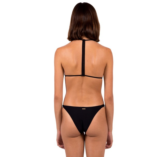 Haut de bikini noir en nylon recyclé - black - Reset Priority num 1