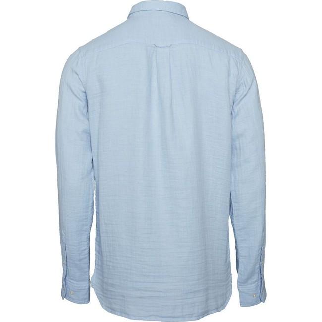Chemise unie bleu ciel en coton bio - Knowledge Cotton Apparel num 1