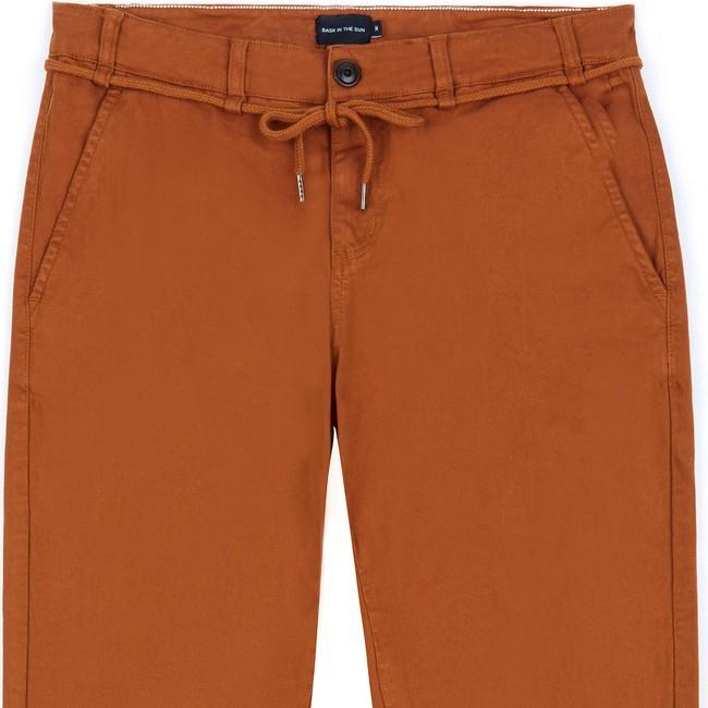 Pantalon en coton bio caramel tiago - Bask in the Sun num 1