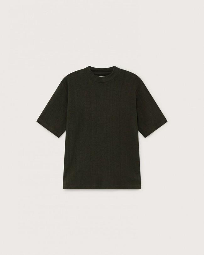 T-shirt manches 3/4 vert forêt en chanvre et coton bio - aidin - Thinking Mu num 4