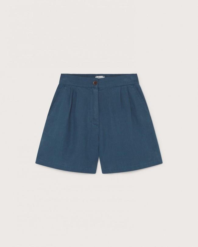 Short bleu canard en chanvre, coton bio et tencel - mamma - Thinking Mu num 3