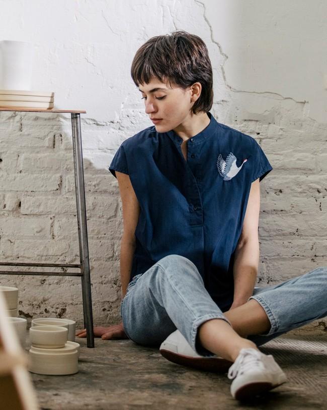 Crane for luck essential blouse - Brava Fabrics num 6