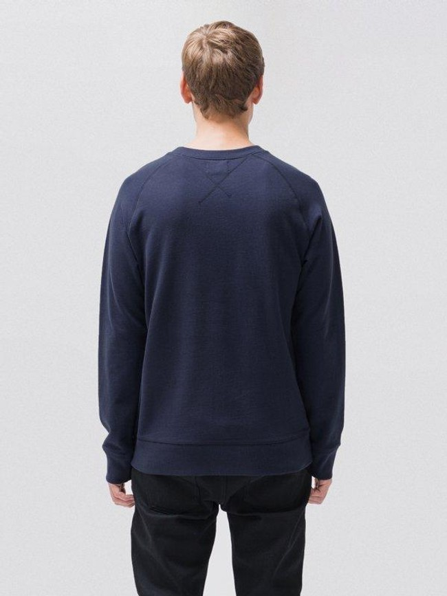 Sweat bleu en coton bio - samuel - Nudie Jeans num 1