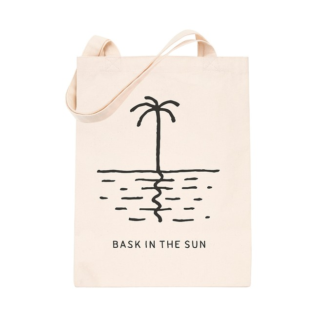 en coton bio white palm tree - Bask in the Sun