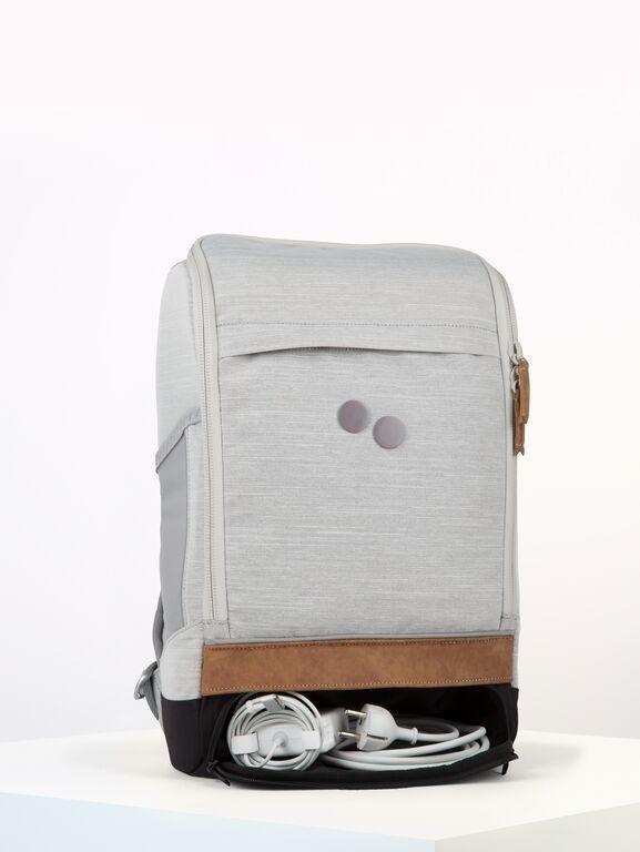 Sac à dos gris clair recyclé - cubik medium grey melange dlx - pinqponq num 3