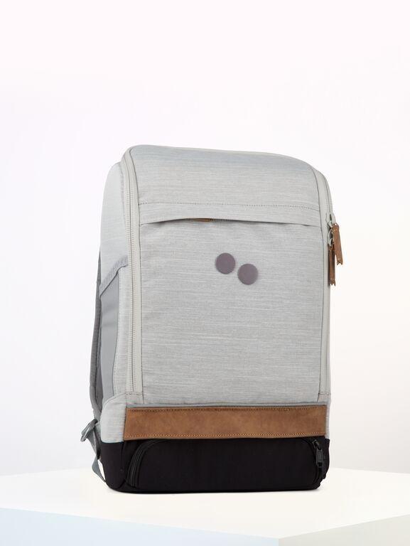 Sac à dos gris clair recyclé - cubik medium grey melange dlx - pinqponq