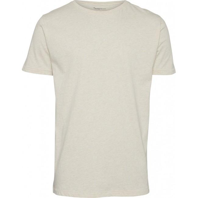 T-shirt écru en coton bio - Knowledge Cotton Apparel