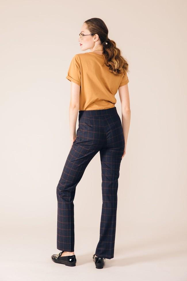 Pantalon tailleur berlin bleu d'écosse - 17h10 num 2
