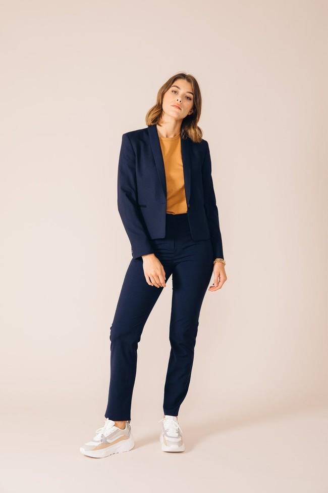 Pantalon tailleur new-york bleu marine - 17h10 num 2
