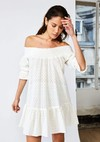 Robe vallauris // broderie anglaise blanche - Bagarreuse - 1