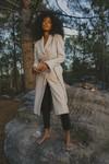 Manteau emma beige en laine - Maison People - 2