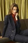 Veste tailleur boston bleu d'écosse - 17h10 - 1