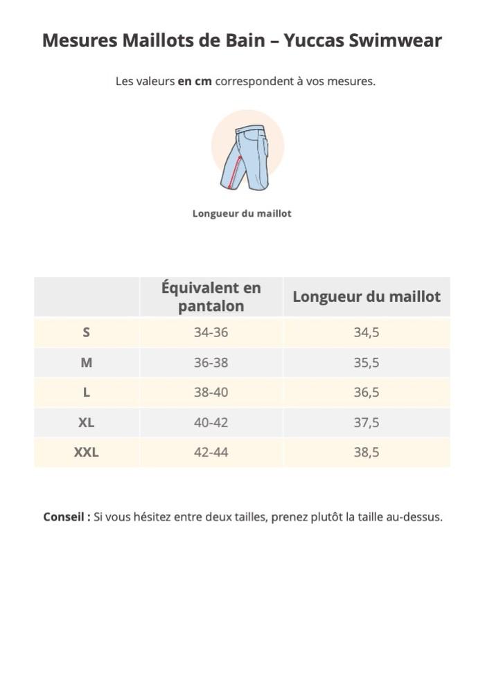 Guide de taille Yuccas Swimwear