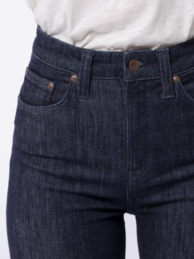 Jean skinny taille haute brut en coton bio - hightop tilde dark navy - Nudie Jeans num 4