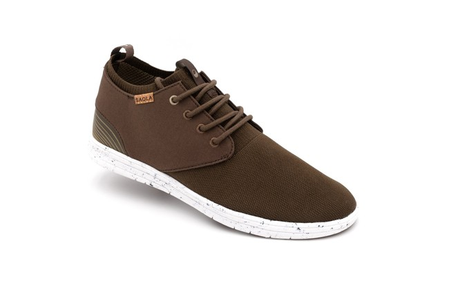 Chaussures recyclées semnoz homme chocolat - Saola