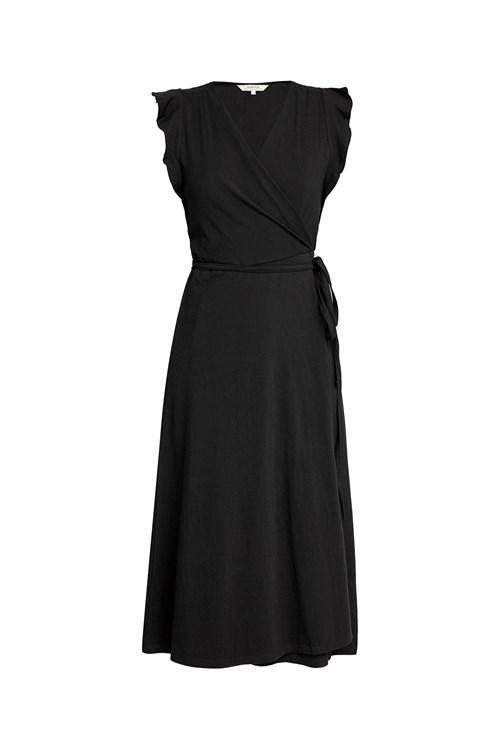 Robe longue unie noire en coton bio - melanie - People Tree num 3